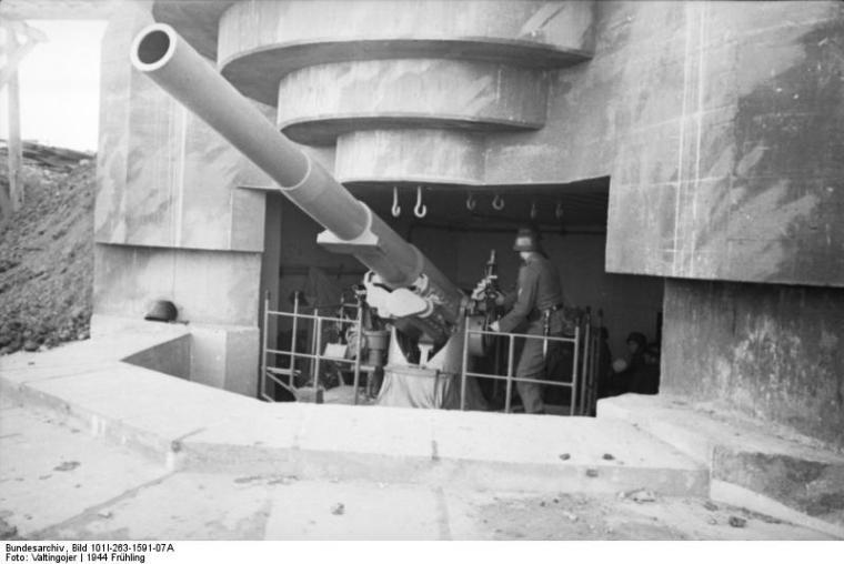 Atlantikwall, Geschütz